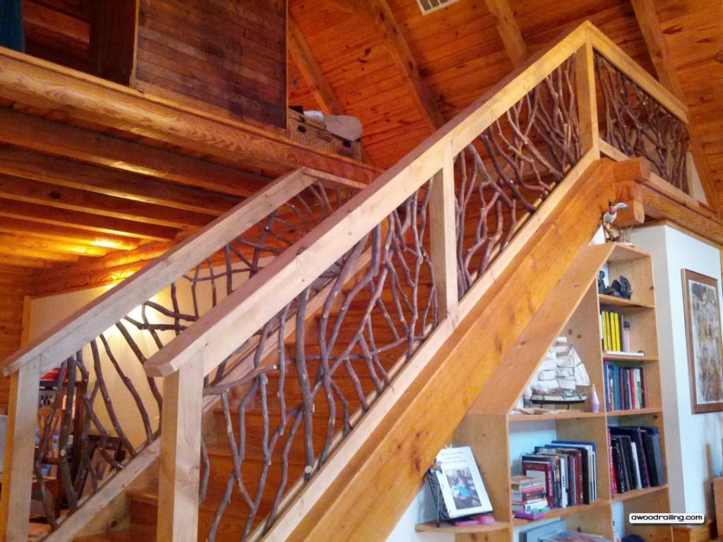 Лестница своими руками из дерева перила